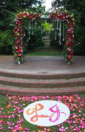 Decoracion Altar para Boda en el Jardin