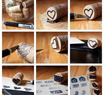 Reciclar corchos para hacer sellos DIY