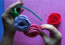 Hacer rosas con goma eva - rosa terminada
