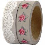 Washi tape rosas y blondas comunión