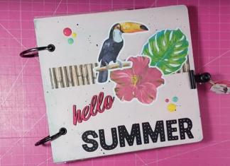 Mini álbum de verano scrapbook
