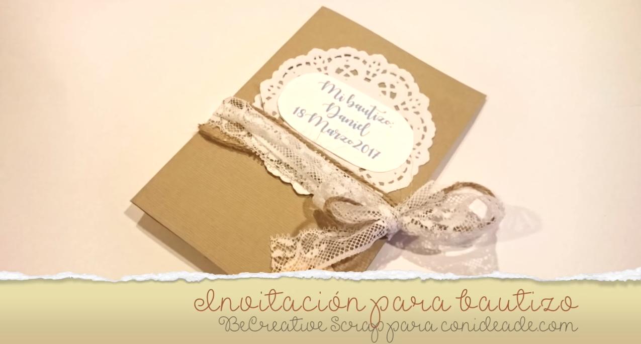 idea para crear tus propias invitaciones para bautizos