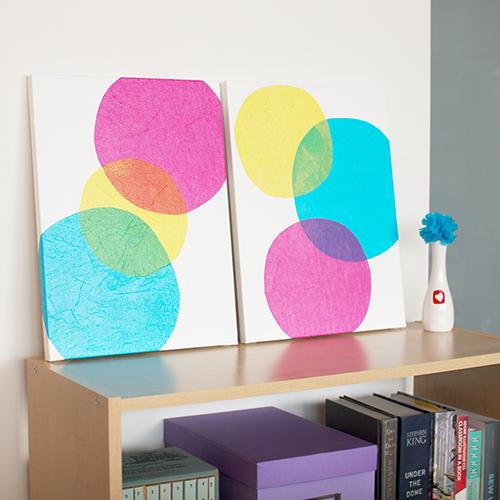Ideas para cuadros DIY personalizados: diseño sencillo y colorido