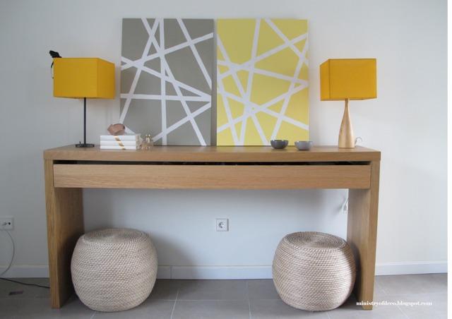 Ideas para cuadros DIY personalizados: diseño geométrico